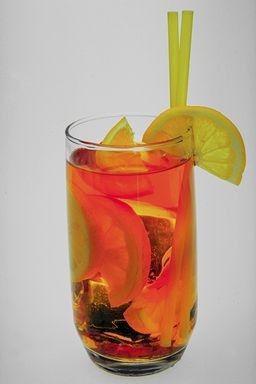 Rhubarb Recipes - Rhubarb iced tea pictured here.