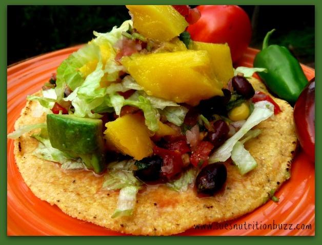 Vegan Tostada with Mango Avocado and Chunky Black Bean Corn Salsa # ...