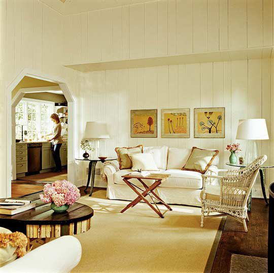 Painted Paneling In Living Room Design Rehab Ideas