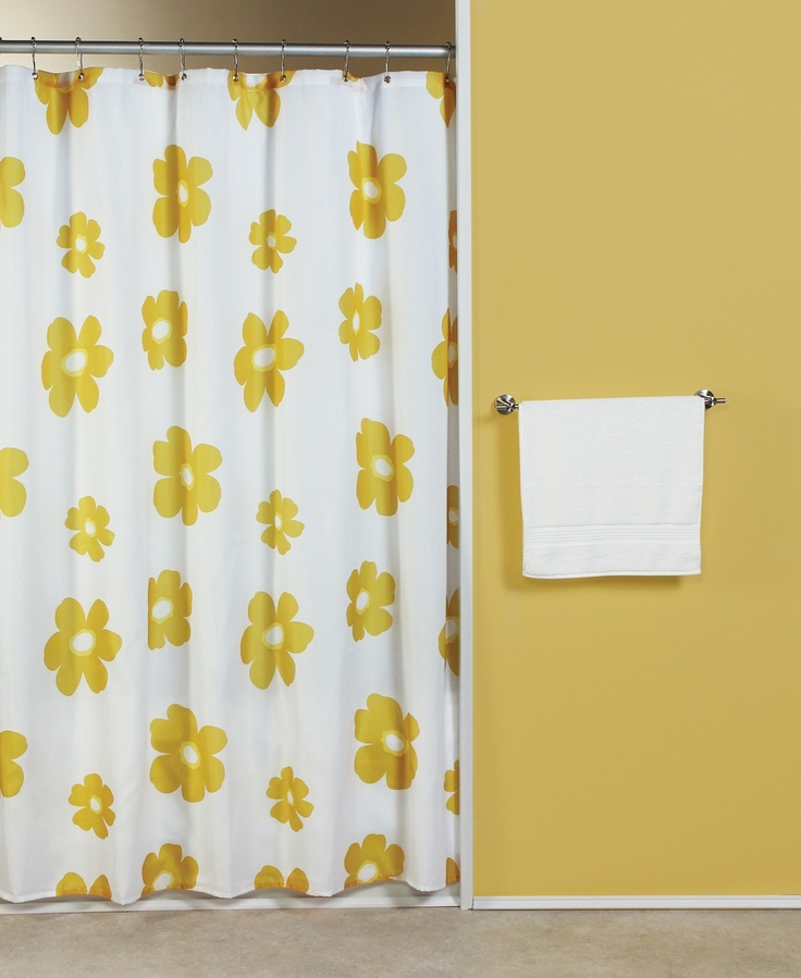 Curtain & Bath Outlet - Poppy Fabric Shower Curtain