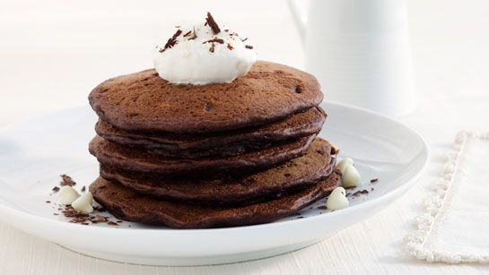 Chocolate Gingerbread Pancakes #recipe | Food & Recipes | Pinterest