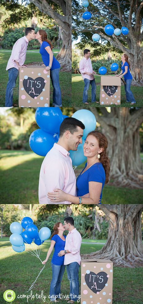 Balloons in a box gender reveal session I want to do this for number two! @Katey Tyksinski Tyksinski Dager will you do this for me?