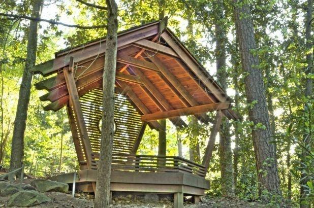 Bird-Viewing Shelter gardens.duke.edu | Blomquist Garden ...