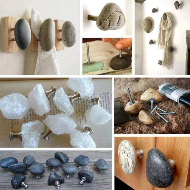 Stones As Cabinet Handles Recycle Home Decor Pinterest
