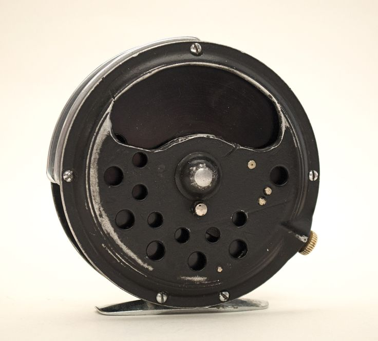 This is the first fly reel that Lefty Kreh ever bought, purchased in 1947. Lefty improved the line drag by cutting a thumb insert in this Pflueger Medalist reel.  From the collection of AMFF courtesy of Lefty Kreh.