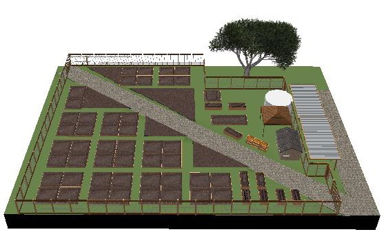 novato community garden 3D site layout Educational