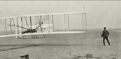 Airplane - Wright Brothers made four brief flights at Kitty Hawk [1903]