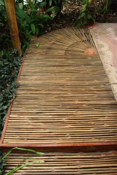Bamboo Walkway Garden structures Pinterest