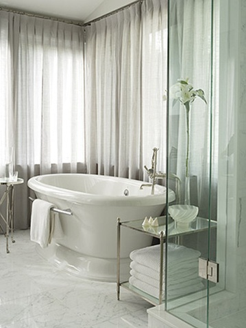 We've seen how sheer curtains can create an airy and light appearance when used as a stand alone.