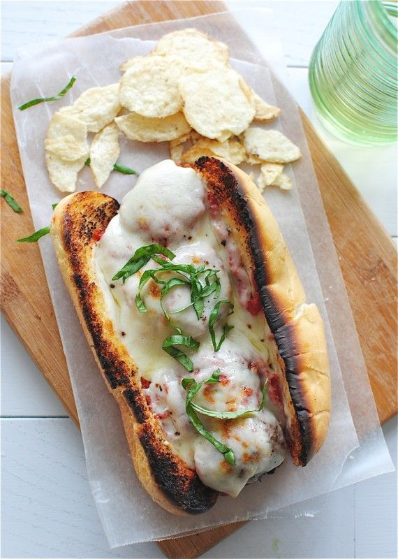 Grilled Beef Meatball Subs / Bev Cooks | sandwiches | Pinterest