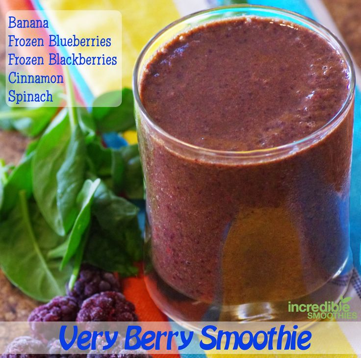 cup frozen blackberries, 3 cups baby spinach, 1/2 teaspoon cinnamon ...