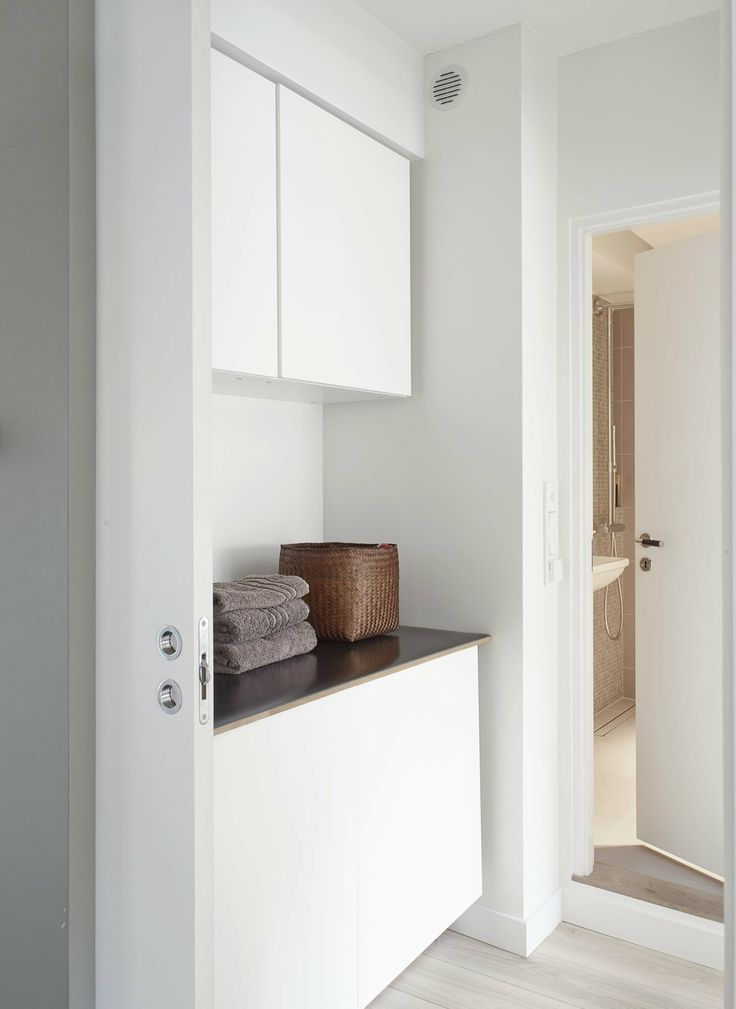 Cupboard Hiding Washing Machine Small Apartment Pinterest