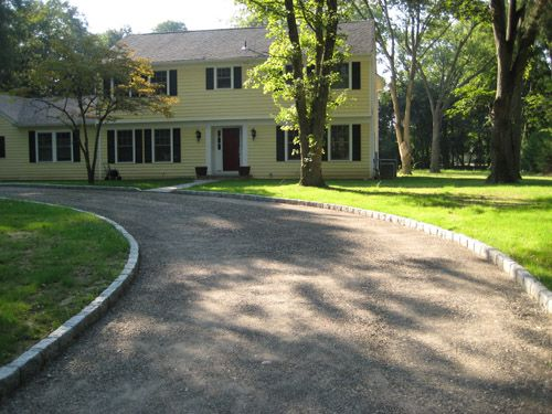 Pin by brenda l on hillside ct pinterest Semi circle driveway designs