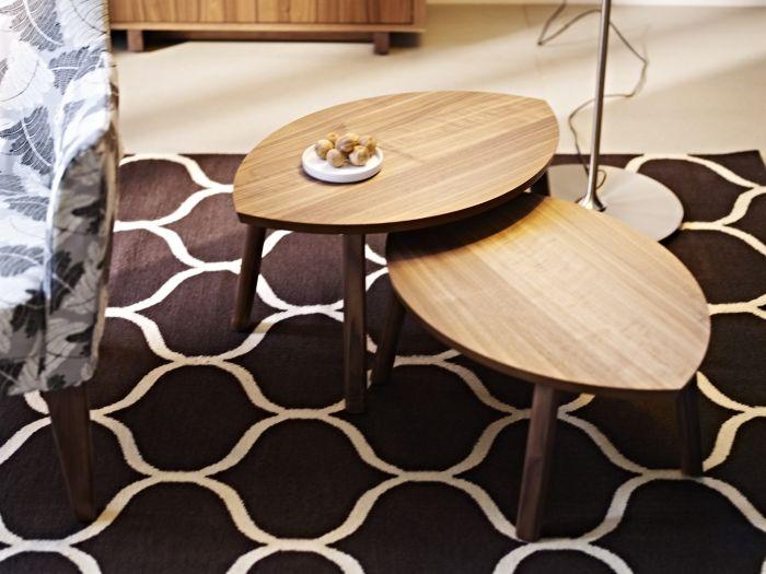 Stockholm Nesting Tables Set Of 2 Walnut Veneer