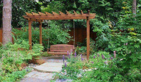 arbor bench swing Outdoor Spaces Pinterest