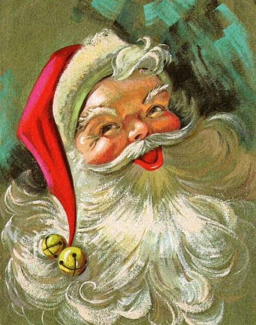 Santa Christmas card | Retro Christmas2 | Pinterest