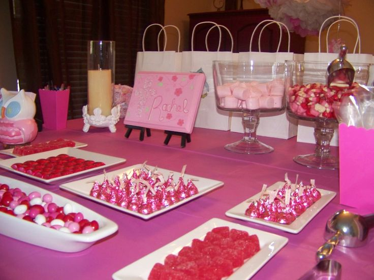 pink candy table for baby shower susan sprinkle pinterest