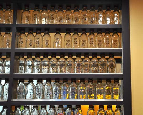 wall of milk bottles | Kitchens & Dining Room Ideas | Pinterest