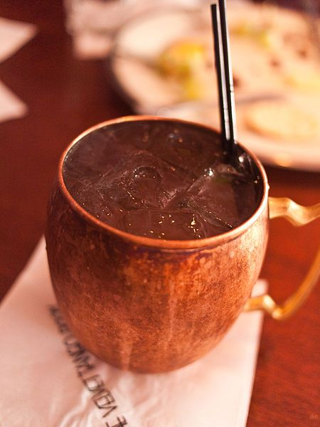Moscow Mule Recipe: Cocktail.... I don't use the sugar syrup ...