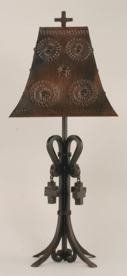 cathedral wrought iron table lamp lighting pinterest. Black Bedroom Furniture Sets. Home Design Ideas