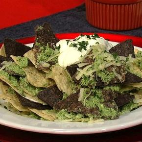 chilaquiles - scrambled eggs, tortilla chips, tomatillo salsa and ...