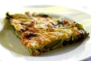 ... FRITTATA. EGGS, GRUYERE OR SWISS CHEESE, ONION, AND ASPARAGUS