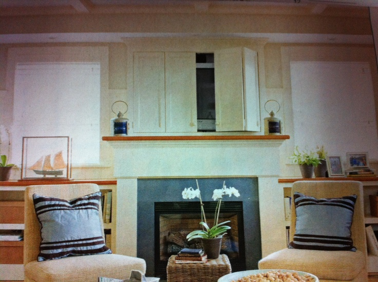 Love The Tv Cabinet Above The Fireplace For The Home Pinterest