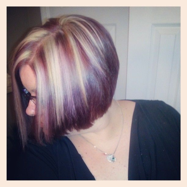 Black Hair With Eggplant Highlights Hairs Picture Gallery
