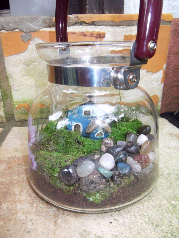 mini jardim reciclado:minis