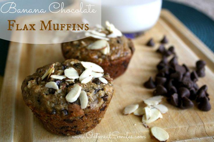 Banana Chocolate Flax Muffins