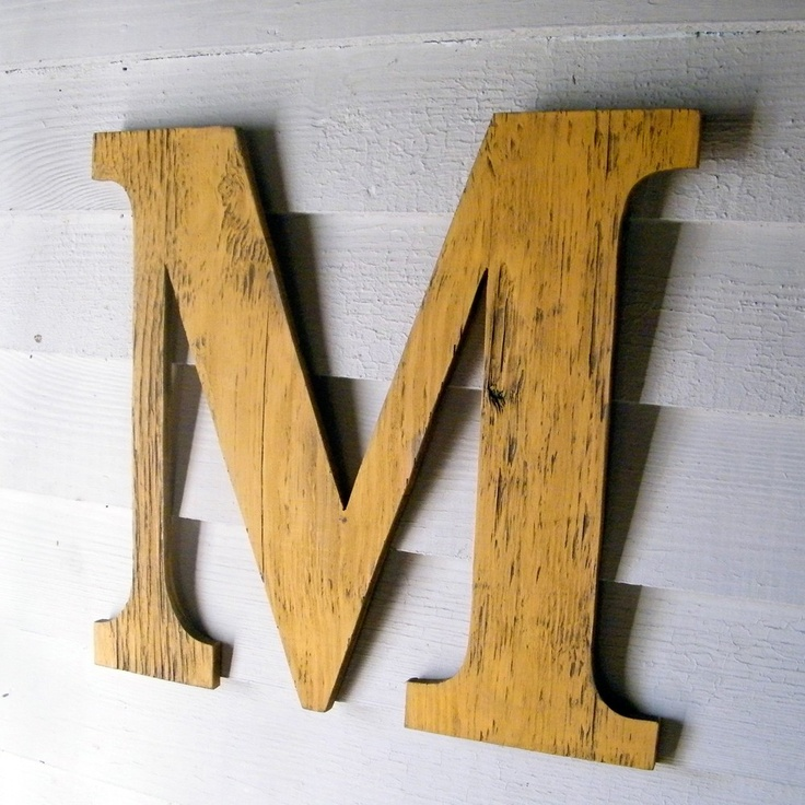 Large wall letters rustic wall letters home decor letter for Large wall letters for nursery