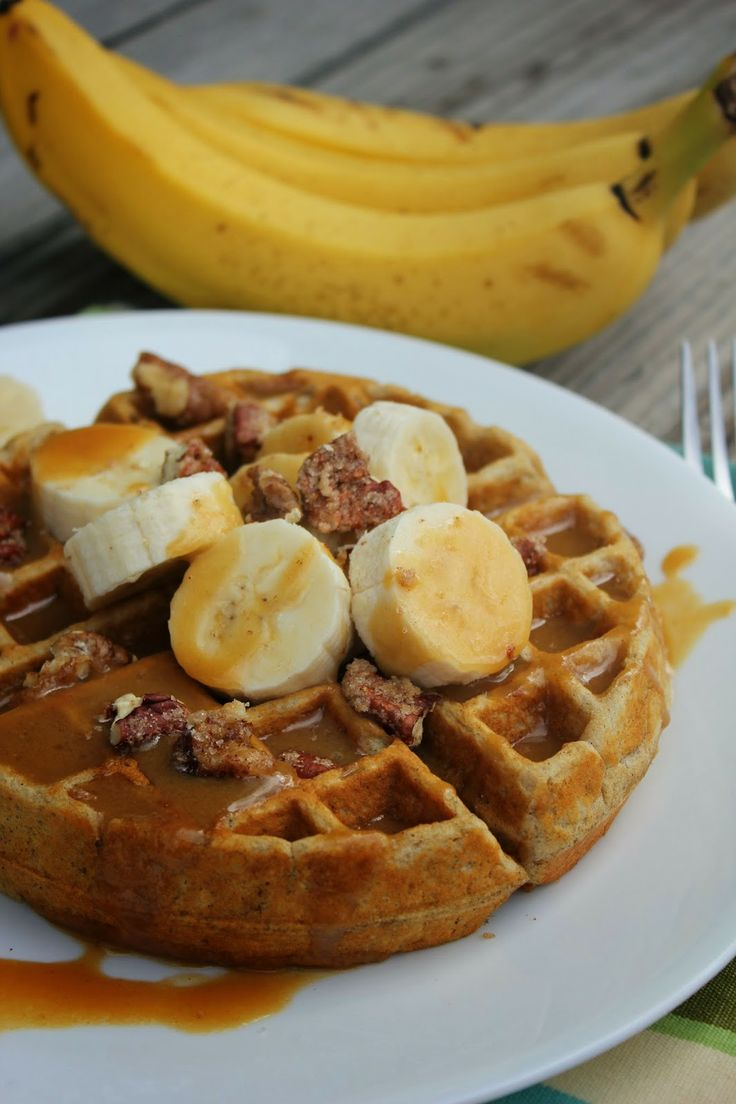 Banana Bread Waffles with Browned Butter Syrup---everything you love ...