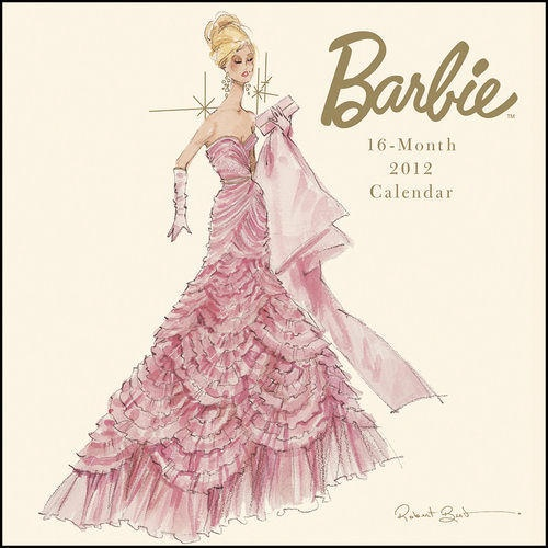 Elegant barbie with the revival of the up style hair fashion calendar