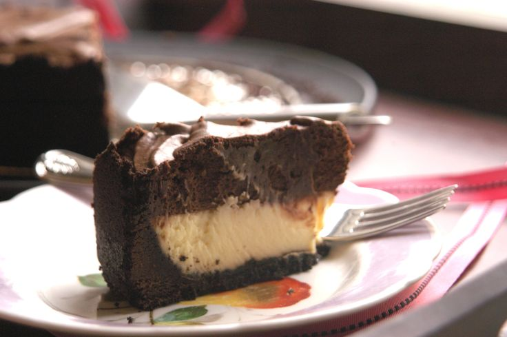 Chocolate Mousse Cheesecake | Sweet Foods | Pinterest