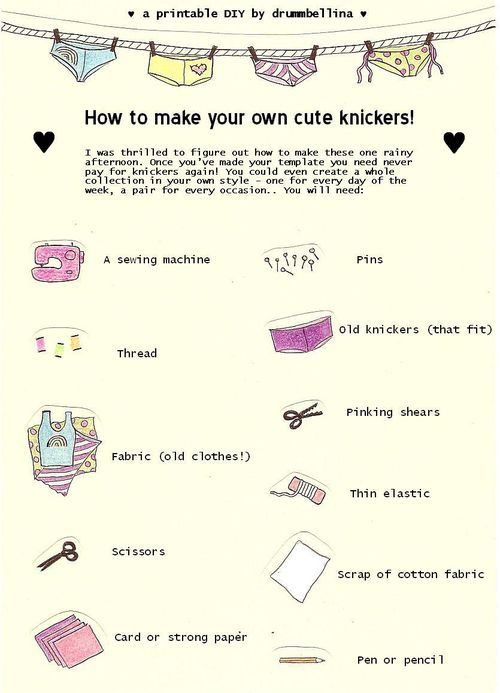 DIY Tutorial – How to make your own knickers! #sewing #underwear #lingerie #tuto