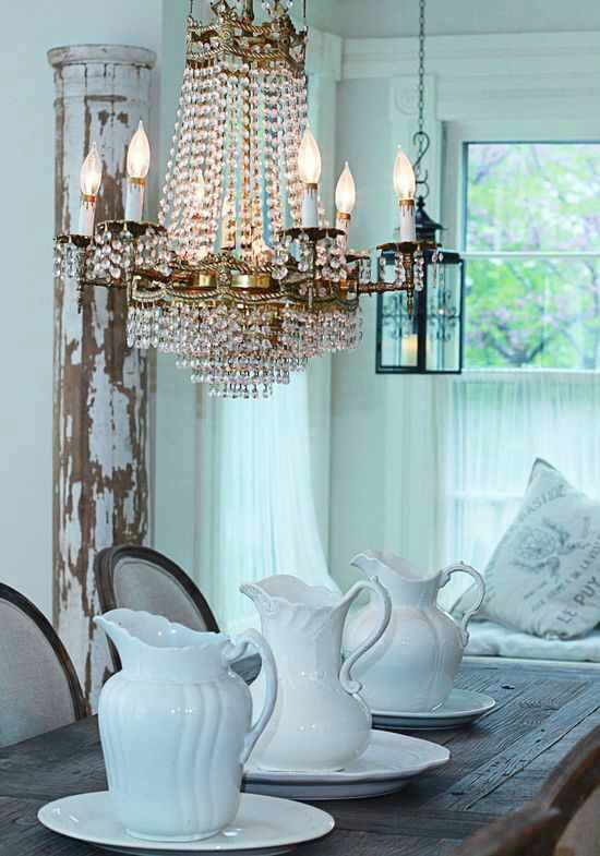 DIY Shabby Chic Dining Room Inspiration  Decor . Loves  Pinterest