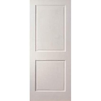 Solid wood raised 2 panel interior doors building for Interior door construction
