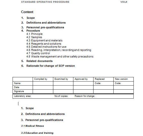 37 Best Free Standard Operating Procedure SOP Templates