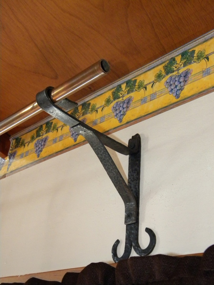 Curtain Rod Pot Rack