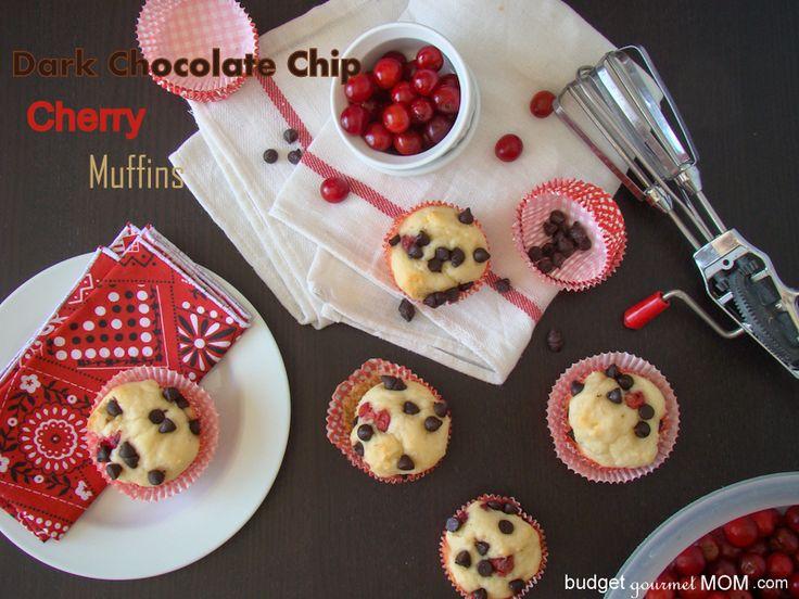 Dark Chocolate Cherry Muffins from @Krista Dearden - Budget Gourmet ...