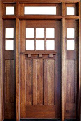 Front door arts crafts style windows doors for Arts and crafts style front door