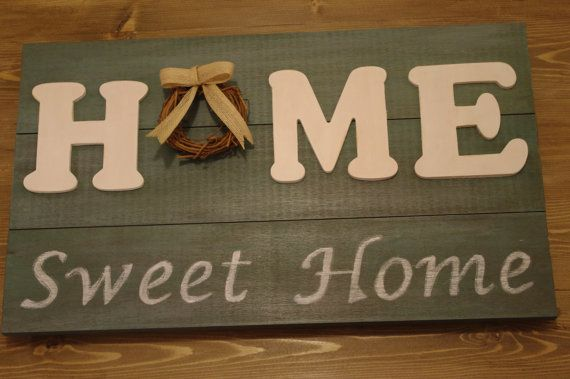 Handpainted, wooden Home Sweet Home sign @Lauren Davison Davison