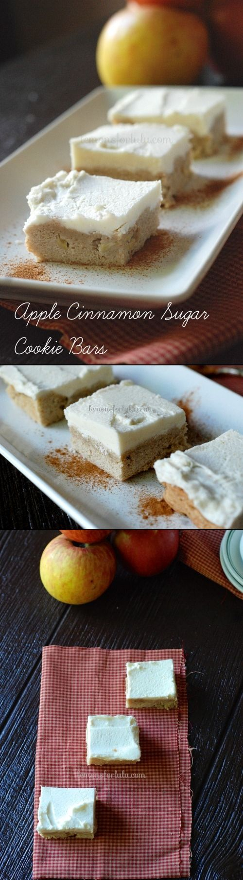 These apple cinnamon sugar cookie bars were the perfect recipe to get ...