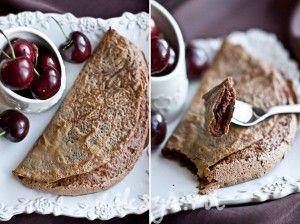 Chocolate souffle half-moon crepes | Breakfast | Pinterest