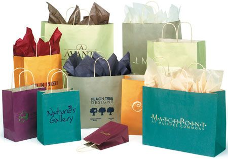 Oatmeal Tint Shopping Bags