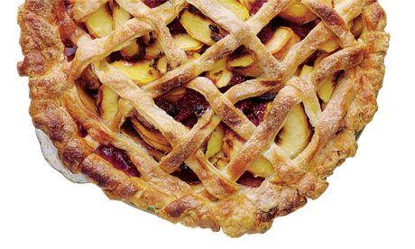 Dan Lepard's raspberry peach lattice pie recipe
