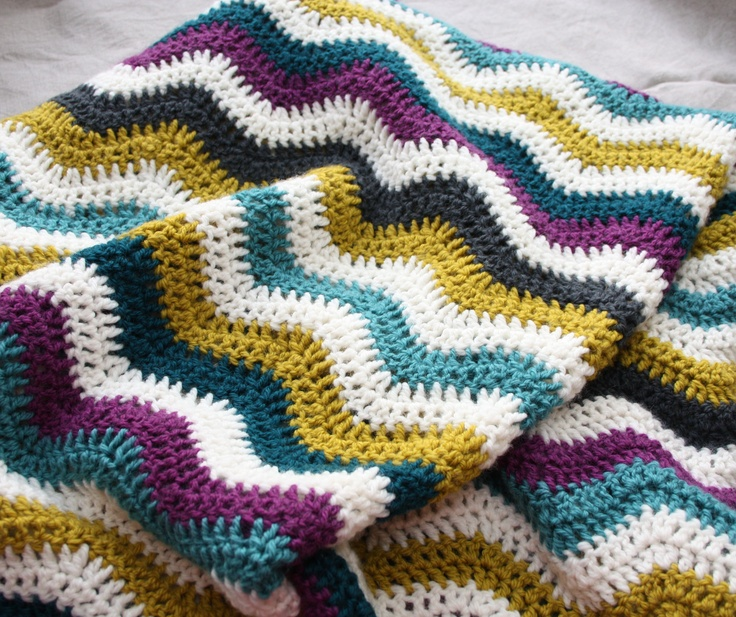 Crochet Ripple Blanket : Crochet Ripple Blanket Crochet Pinterest