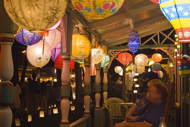 On The Porch    Illumination Night in Oak Bluffs