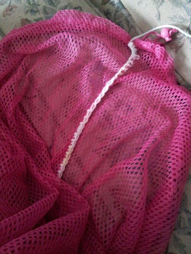 Crochet Laundry Bag : Scrap yarn laundry bag fix Crochet Dreams Pinterest