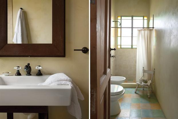 Piso Para Baño Verde:piso calcáreo en verde y ámbar Mampara